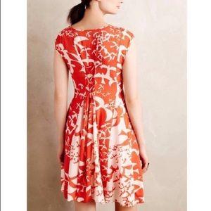 Anthropologie Maeve Indiga Orange Pattern Dress